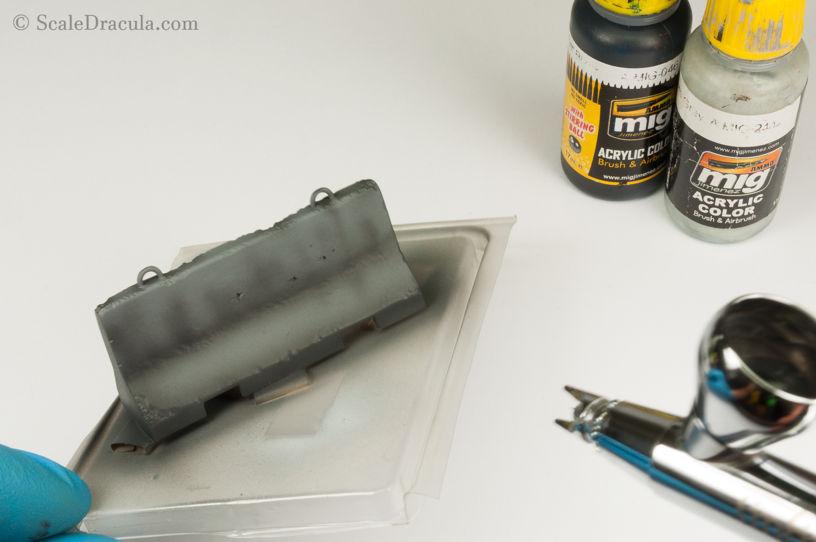 How to paint and weather concrete SBS, 1:35 road barrier