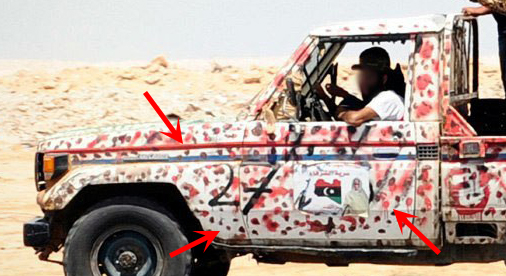 Toyota Land Cruiser Technical in Libya
