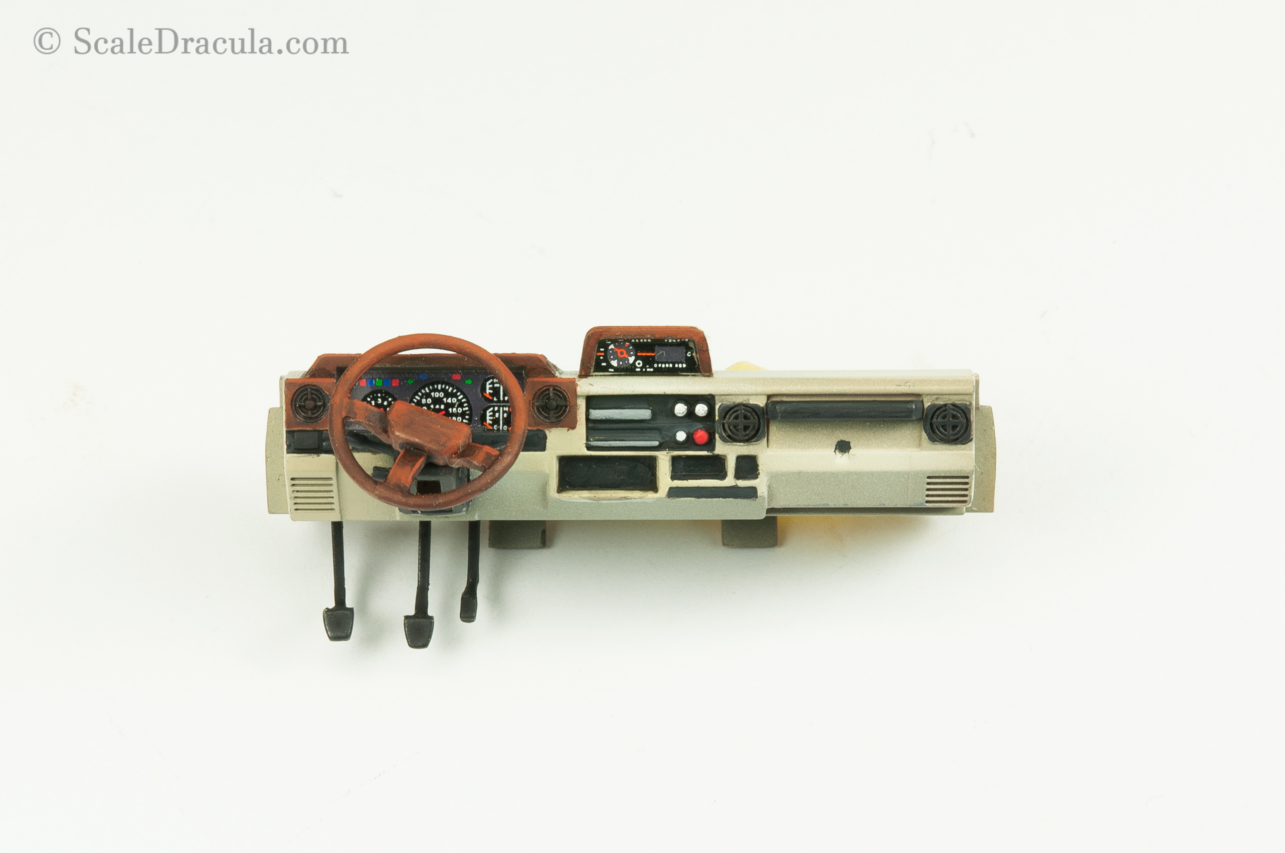 Dashboard painted with acrylics, Toyota technical by Meng