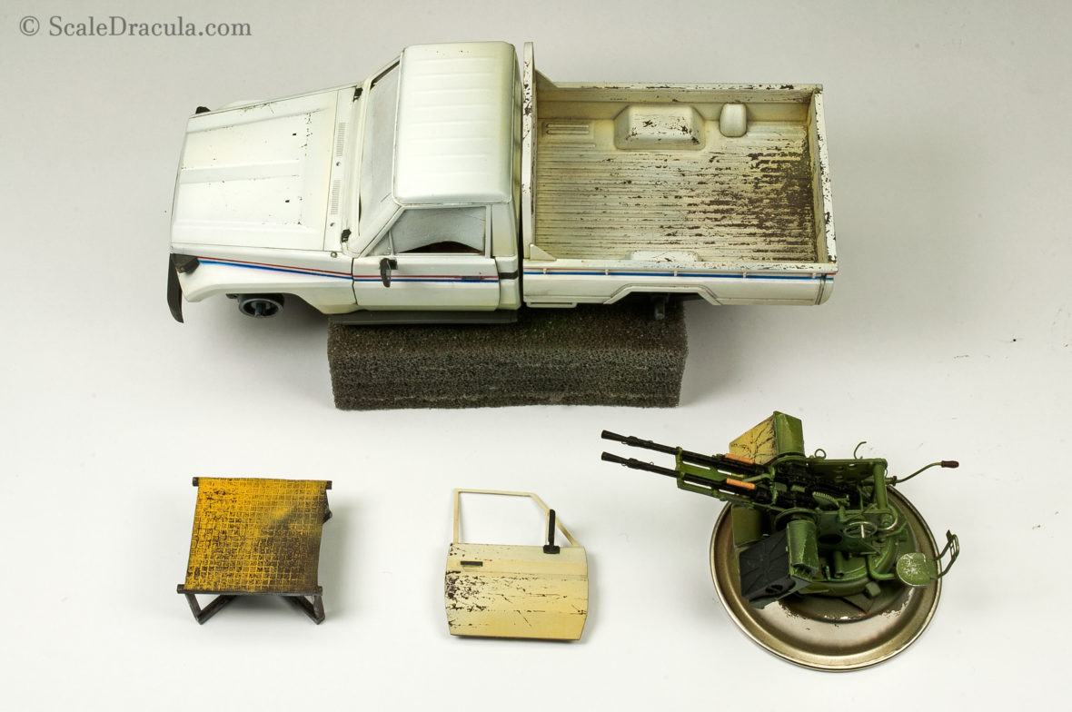 Base paint with some initial weathering, Toyota technical by Meng