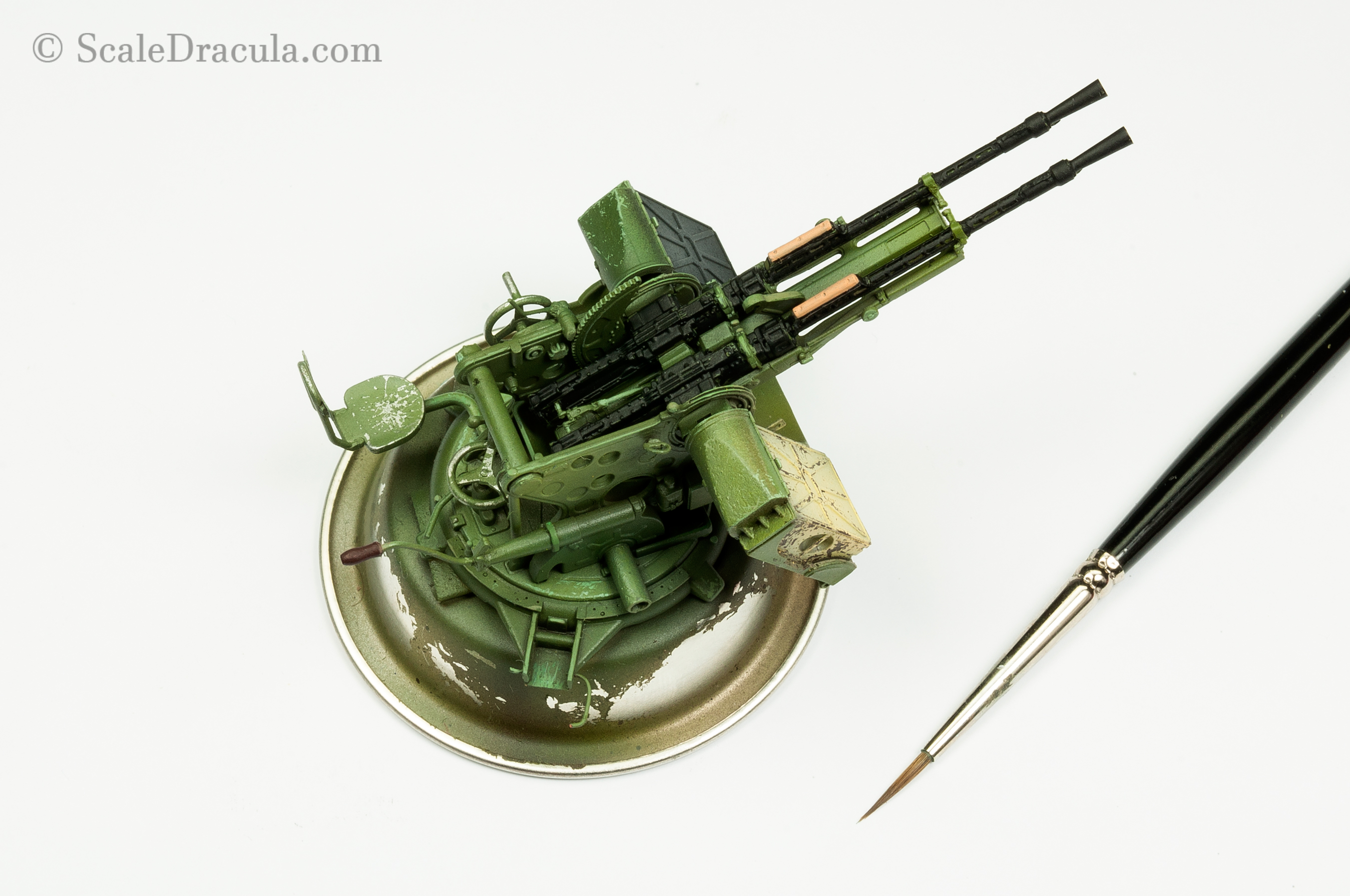 Painting the ZPU-2 gun, Toyota technical by Meng