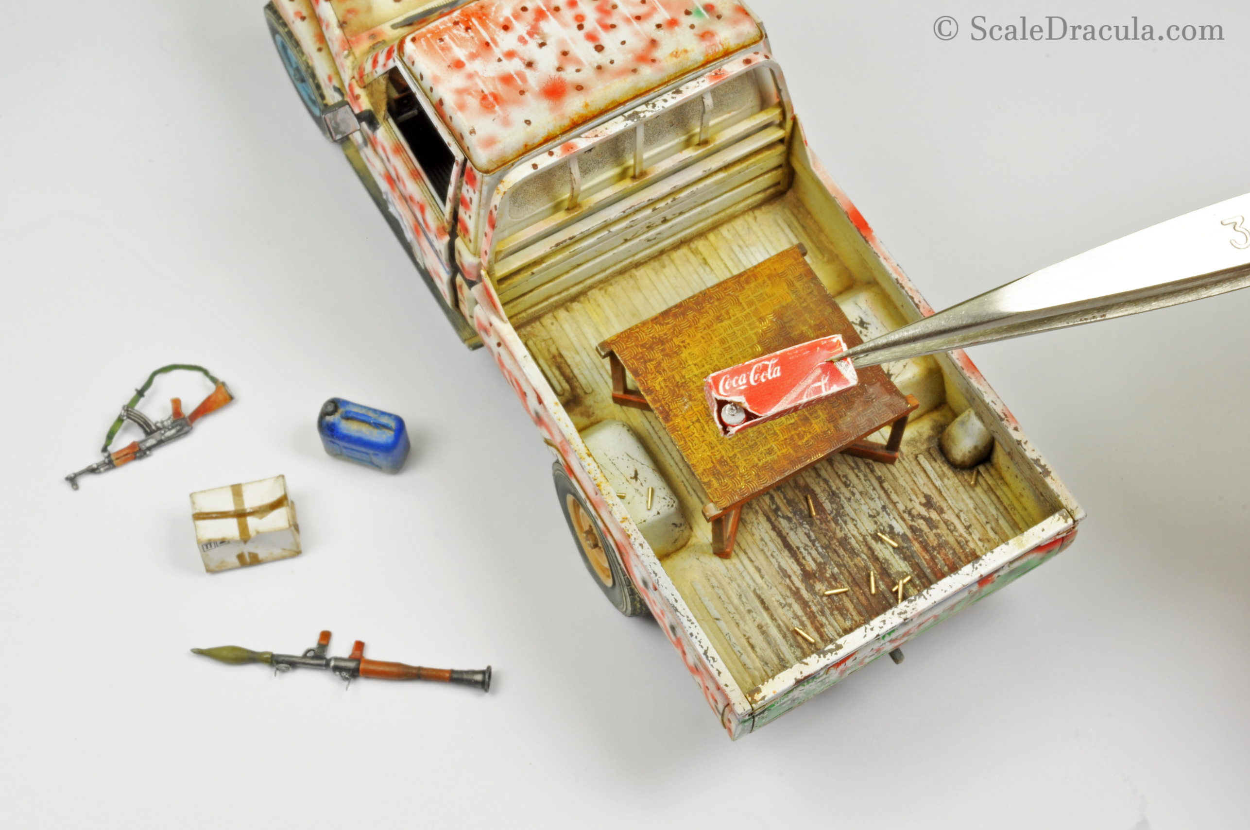 Adding accesories to the model, Toyota technical by Meng